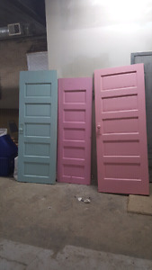 1920's solid wood doors. With antique knobs