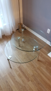 Round Two-Tier Glass Coffee Table!