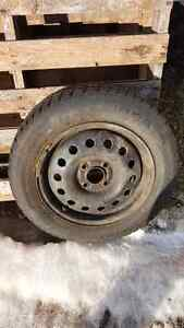 4 Studded winter tires on rims(ford focus)  size 185 65 R 15