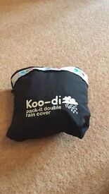 Koo di pack it rain cover double buggy