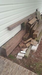 Lumber in various sizes and lengths