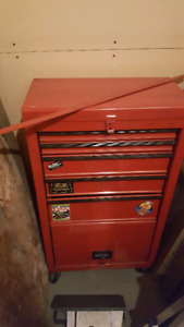 3' tall x 1.5' wide red tool box