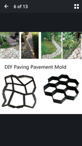 Wanted: cement molds for walkway/driveway