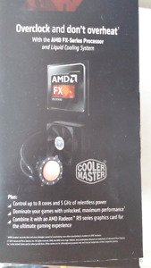 AMD FX-9590 Black edition. NIB with Cooler Master liquid cooler