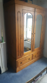 Solid wood double wardrobe