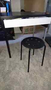 Ikea desk and stool