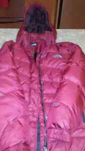 North face 3/4 length down filled coat