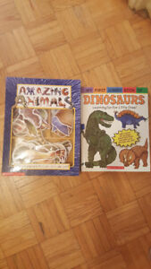 Animal books with puzzles and textures!