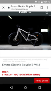 brand-new $2000.00  EMMO ELECTRIC BICYCLE  for $800.00