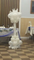 Balloon party centrepieces or balloon animal party package.
