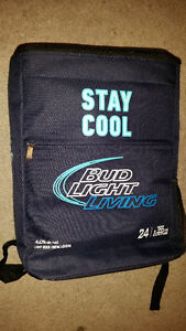 2 BRAND NEW BLUE LIGHT COOLERS 1 THIN 1 BACK PACK ONLY 9$ EACH..