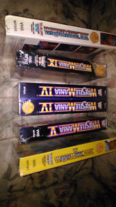 (VERY RARE / SEALED )  WWF WrestleMania Vintage VHS Collectables