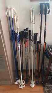 Used Ski poles for sale and snowshoeing ones for sale