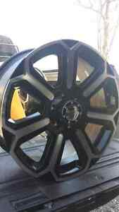 NEW 20INCH 6X139.7 BLACK ALLOY RIMS