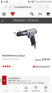 NEW MAXIMUM AIR HAMMER/ CHISEL
