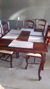 Large table and 8 chairs