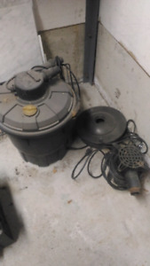 Pond pump and heater