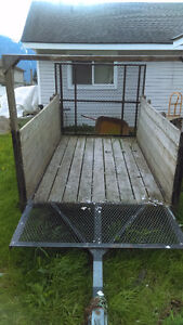 "Atv utility boat trailer 53"" x 126"" with ramp gate"