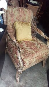Two Goergeous Detailed Arm Accent Chairs