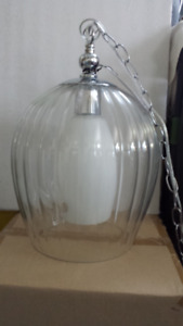 Unusual Glass Fluted pendant light