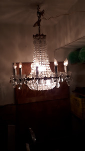 "Chandelier (French Style (Modern) w/10 Arms.  32"" high by 25"" w"