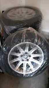 255/55/r18 tires on rims for 2010 X5d Kitchener / Waterloo Kitchener Area image 1