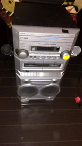 3 Disc Karaoke Machine with Duel Tape Deck.