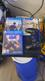 PS4 Slim 500gb plus 3 games and 1 controller