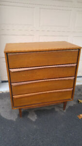 mid century walnut small dresser or sideboard / chest of drawers