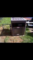 Pool heater startups and install.