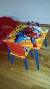 Kids table and bed frame