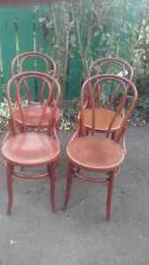 ANTIQUE SET OF 4 BENTWOOD CHAIRS