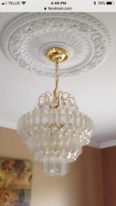 12-inch and 15-inch gold chandeliers - great shape!