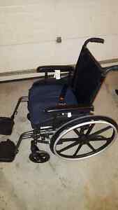 WHEELCHAIR Pride Stylus LS 18X18 with seatbelt and new cushion.
