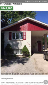 House for rent close to University of Windsor