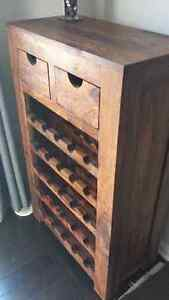 Reclaimed wood Bar/wine rack