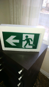 Exit Sign ..lighted