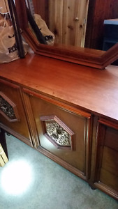 Antique Bedroom Set, Solid Wood $350