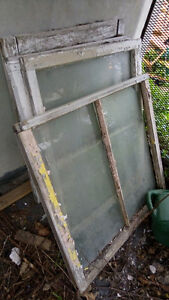 OLD WOOD WINDOWS -FREE! GRAB THEM WHILE YOU CAN.