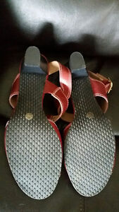 Brand New Red Sandals with Leather Upper - Size 9 - $20 Strathcona County Edmonton Area image 2