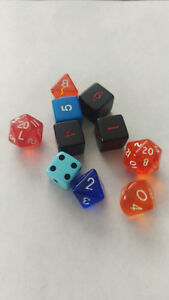 Ass't Polyhedral RPG Gaming Dice x10