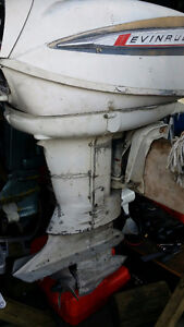 60`s Evinrude 40hp 2str s shaft outboard motor project or parts