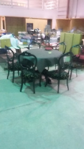 Tilt-Top Table + 6 Chairs!