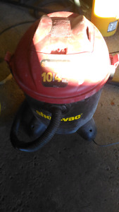 Red shop vac with tube works good