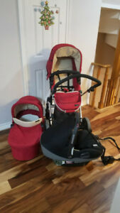 Icoo stroller and bassinet, almost new!