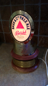 Bass pale ale draft beer tower