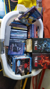 Basket of Dvds and bluerays.