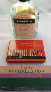 Vintage Bottle Tin Apothecary paper advertising collectibles