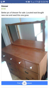 Real wood sturdy  dresser with mirror
