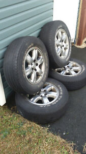 Alloy rims, P225/70R16 and lug nuts